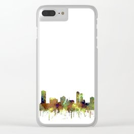 Milwaukee, Wisconson Skyline SG - Safari Buff Clear iPhone Case