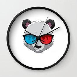 Party Animal DJ Pandas Music Party Beat Sunglasses Wall Clock