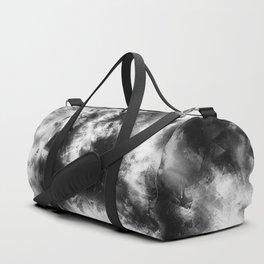 Black and White Tie Dye & Batik Duffle Bag