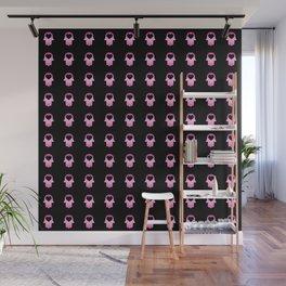 Gradient Pink Khamsa Repeat Black Wall Mural
