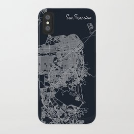 San Francisco Map iPhone Case