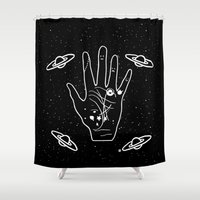 constellation Shower Curtains featuring Constellation by Emmanuelle Ly