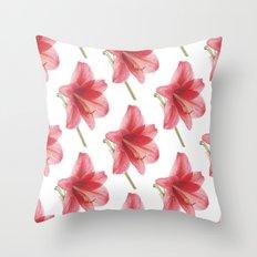 Amaryllis pattern Throw Pillow
