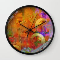 weird Wall Clocks featuring Weird by Ganech joe