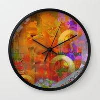 weird Wall Clocks featuring Weird by Joe Ganech
