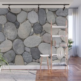 Smooth Grey Pebble Minimalistic Zen  Wall Mural