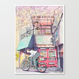 Bicycle Boy 02 Canvas Print