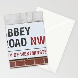Abbey Road Street Sign Stationery Cards