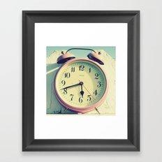 Pink Clock Framed Art Print