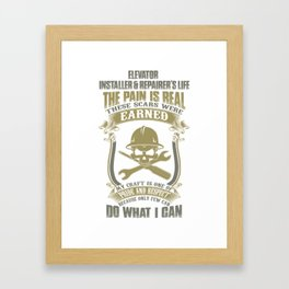 Electrician installer Framed Art Print