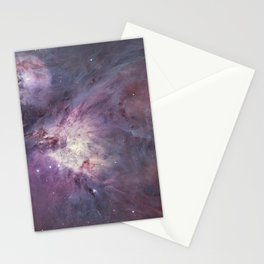 The Orion Nebula Messier 42 diffuse nebula in constellation Orion. Stationery Cards