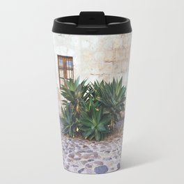 Succulents in the Monastery Courtyard, Arequipa, Peru Travel Mug