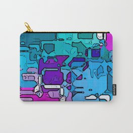 Abstract Segmented 1 Carry-All Pouch