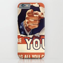 Are You Doing All You Can? iPhone Case