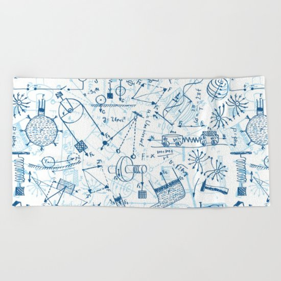 School chemical #4 Beach Towel