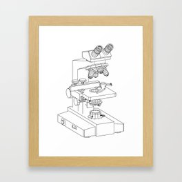 microscope Framed Art Print