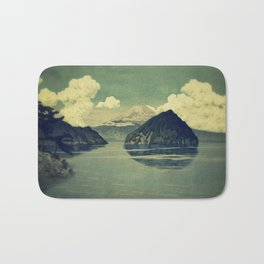 Distant Blues Bath Mat