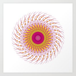 For when you enfold me in your complexities Art Print