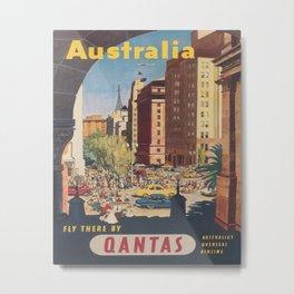 Australia Vintage Travel Poster Metal Print