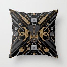 S&M Scarf Print Throw Pillow