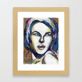 Pop Art Woman Framed Art Print