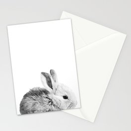 Black and White Bunny Stationery Cards