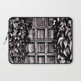 Black White Old Door Laptop Sleeve