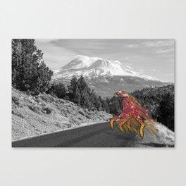 Unseen Monsters of Mount Shasta - Laskkii Squintleek Canvas Print