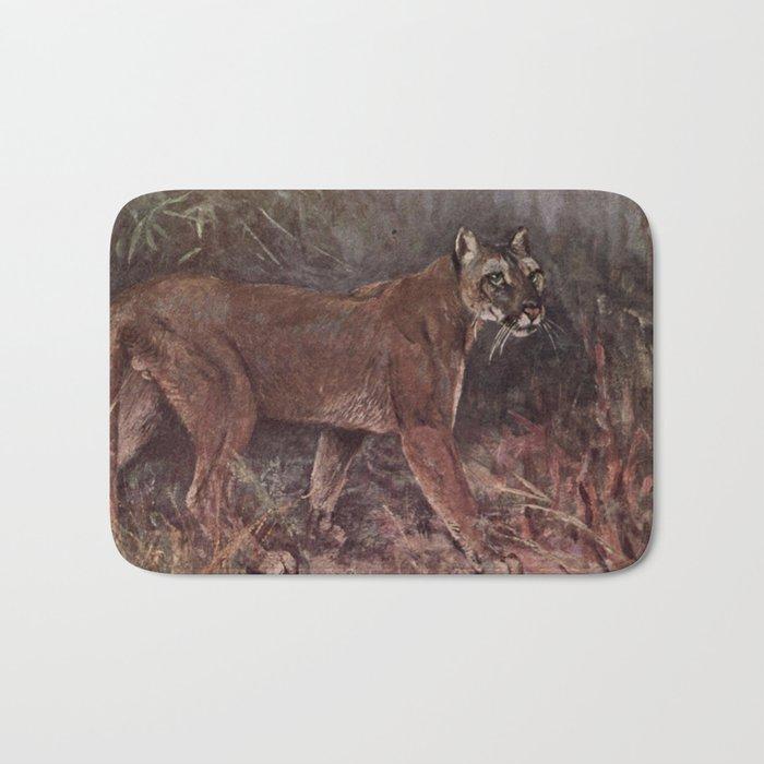 odebrać dobra jakość najlepsza wyprzedaż Vintage Puma Painting (1909) Bath Mat
