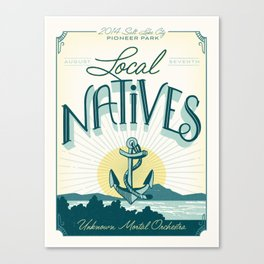 Local Natives Gig Poster Canvas Print