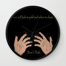 Fade to gold Wall Clock