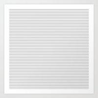 gray pattern Art Prints featuring Gray Stripes Pattern by Allyson Johnson