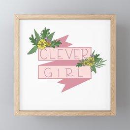 Clever Girl Framed Mini Art Print