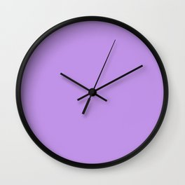 Solid Lilac Wall Clock