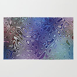The Abstract Blues Rug