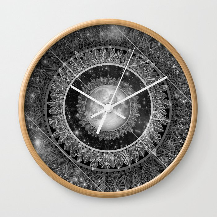 Major Tom (floating in my tin can, far above the Moon) Wall Clock