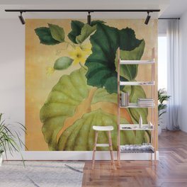 Muskmelon, Vintage Botanical Illustration Collage Art Wall Mural