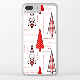Seamless christmas applique patchwork pattern Clear iPhone Case