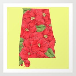 Alabama in Flowers Art Print