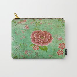 Grunge Floral Pattern 05 Carry-All Pouch