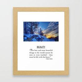 Beauty - Helen Keller Framed Art Print