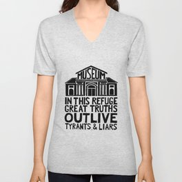Museums Are Centers of Resistance Unisex V-Neck