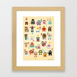 ABCD Superheros Framed Art Print