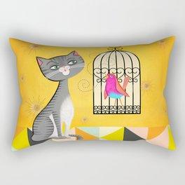 Cat Bird Seat Rectangular Pillow