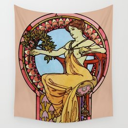 "Alphonse Mucha ""Documents Décoratifs, 1901 (48)"" Wall Tapestry"