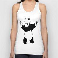 banksy Tank Tops featuring Banksy Panda1 by vie3