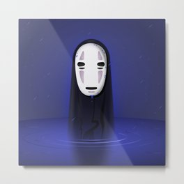No Face Metal Print