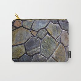 Stone Mosaic Wall Carry-All Pouch