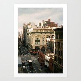 Overhead Busy Manhattan Street Art Print