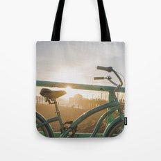 Bike & Beach in Sunny California Tote Bag